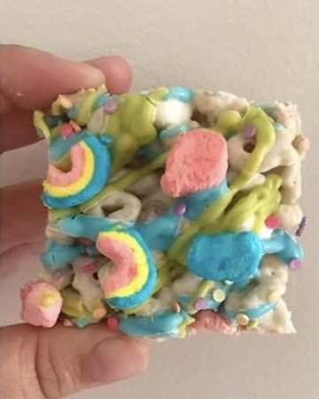 Delectable Lucky Charm Squares